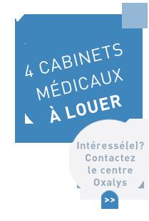 4 cabinets médicaux à louer